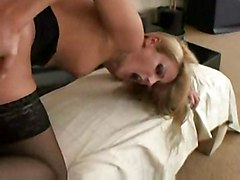 anal stockings cumshot blonde blowjob higheels pussyfucking