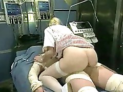 Hardcore Nurses Riding Stockings Vintage White