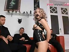 latex gangbang blowjob pussyfucking anal doublepenetration asstomouth cumshot facial