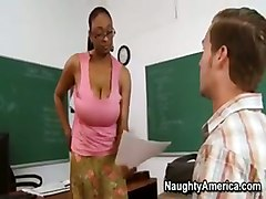 ebony black mature woman with young boy