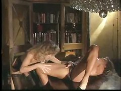 stockings lesbian fingering pussylicking classic retro vintage