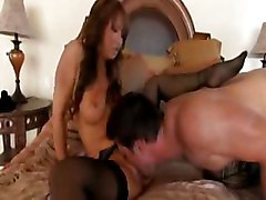 asian stockings blowjob