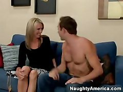 blonde milf blowjob tattoo sofa cowgirl pussyfucking kissing silicontits