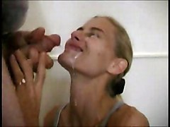 Blowjob Cumshot Blonde Bathroom Blonde Blowjob Caucasian Couple Cum Shot Deepthroat Oral Sex