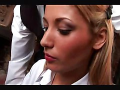 anal stockings cumshot blonde blowjob shaved schoolgirl pussyfucking