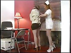 Bondage Lesbian bedroom nurses