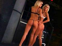Lesbian Blonde Lingerie Blonde Caucasian High Heels Lesbian Lingerie Shaved Striptease