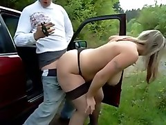mature milf big ass german outdoor creampie