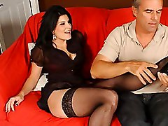 Black Foot Fetish Footjob High Heels Long Legs Stockings Toe Sucking