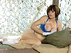 brunette solo stripping teasing softcore