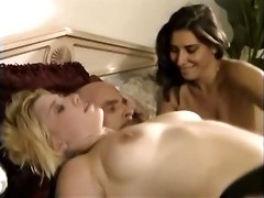 threesome stockings sex lick pussy