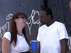 Redhead Gets Gangbanged By Big Black Cocks