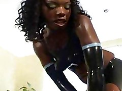 Ebony Interracial Latex