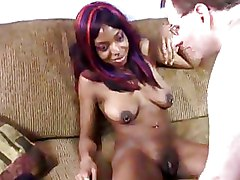 Ebony Interracial glasses hairy