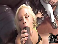 poor cuckold watching his gf getting gangbanged