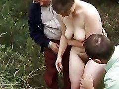 Gang Bang Mature Outdoor Pissing