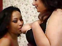 Big Tits Lesbian Pussy Licking Stockings