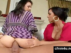 cumshot anal cfnm ass cumeating fffm femdom