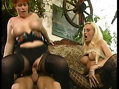 German Stockings Threesomes