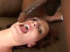 gangbang black dick deep throat fucking cum