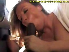 Cougar Swallows Black Load