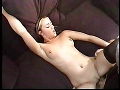 Caucasian Couple Cum Shot Piercings Stockings Vaginal Sex