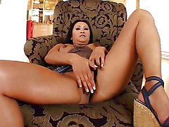 Asian Masturbation Asian Black-haired High Heels Masturbation Solo Girl Vaginal Masturbation