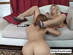 video sex lesbian pussy licking blonde pornstar amateur lesbo movie vid katja kassin bobbi dykes katjakassin