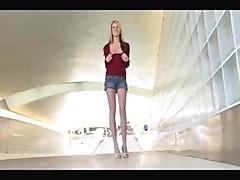 teen blonde skinny masturbation solo public