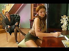 Sex Crazy Mature Chick Provoking A Pretty Babe