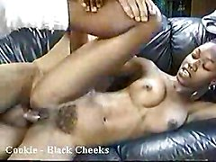 Ebony Interracial Vintage Black-haired Blowjob Couple Cum Shot Ebony Hairy Interracial Oral Sex Vaginal Sex Vintage