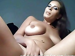 Masturbation Solo Girls dildo hot brunette