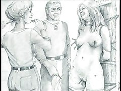 cartoon toon bondage bdsm comic art artwork fetish