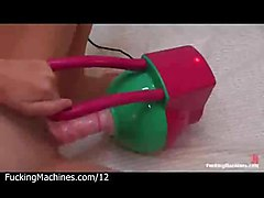machine toy dildo vibrator masturbate fetish insertion busty bigtits breasts hooters melons pussy twat cunt shaved babe blonde solo pierce