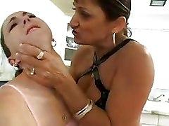 Dildos Kitchen Lesbian Masturbation