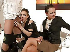 CFNM Group Sex Threesome