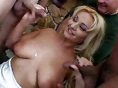 Cuckold Gang Bang Interracial MMF blonde milf wives
