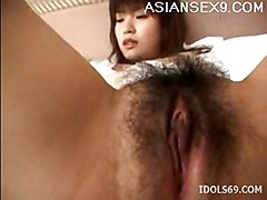 pussy hot slut rubbing hairy asian is her anna myashita