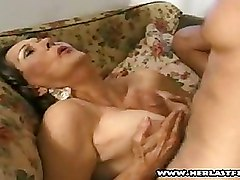 Granny Moms and Boys Titjob