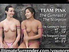 Strapon Wrestling lesbian porn games threesome fucking