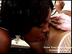 horny ebony shagging 3some shaved cocksuck pussylick nice tits