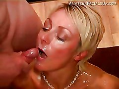 Facials Interracial blonde gang bang milf blowjob