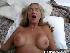 cumshot facial blonde milf blowjob handjob wife bigtits