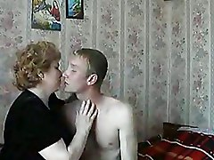 Bedroom Kissing Moms and Boys