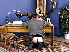 German Office Dame Banged