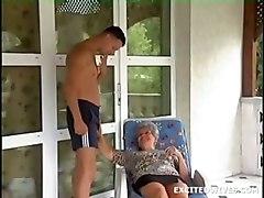 mature granny blowjob cumshot facial