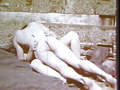 Vintage Blowjob Brunette Caucasian Couple Hairy Handjob Masturbation Oral Sex Outdoor Vaginal Sex Vintage