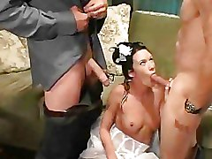 Brides Threesome brunettes mmf
