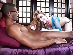 Big Cock Deep Throat Interracial blonde blowjob cock fucking monster sucking