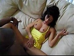 cumshot hardcore interracial blowjob brunette pussyfucking